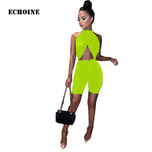 Asymmetrical Wrap Crop Top and Shorts 2 Piece Set Sleeveless O-neck Split Top Sexy Bodycon Shorts Set Skinny Clubwear Outfit wrap split front bell sleeve top