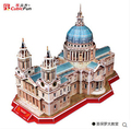 Cubicfun 3d puzzle DIY Paper Craft Saint Patrick's Cathedral Notre Dame DE Paris Cologne Cathedral Children's toys Creative
