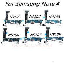 Nova doca conector carregador usb porto de carregamento cabo flexível para samsung note4 n910f n910g n910a n910v n910t n910p substituição sparts