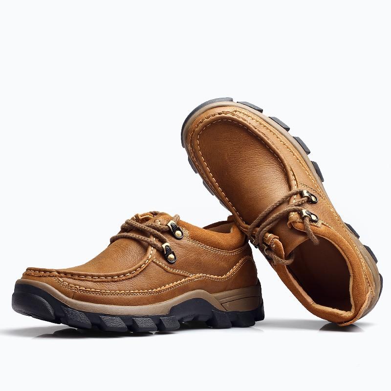 Respirant Pour Ciel Quatre Qualité Hommes Pu Déodorant Chaussures Haute Et marron L'expédition En Habillées Véritable De Cuir Saisons ppwSnqO1a