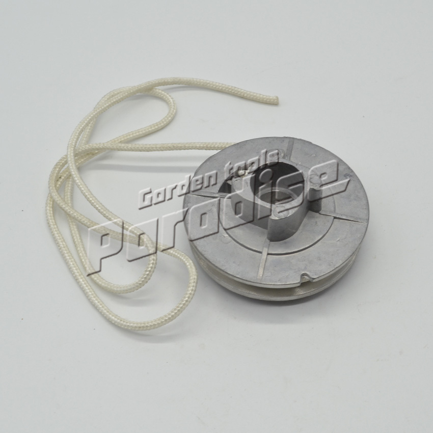 45cc 52cc 58cc Chainsaw Starter Parts Aluminum Single Starter Pulley With 4 Pawls And Starter Rope