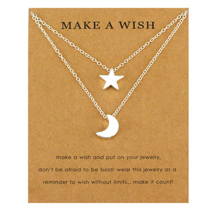 (A Set) Moon Star Necklaces Mo