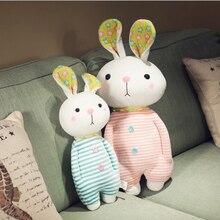 Creative Cute Shy Stripe Rabbit Short Plush Toys Stuffed Animal Doll Toy Children Girls Birthday Gift