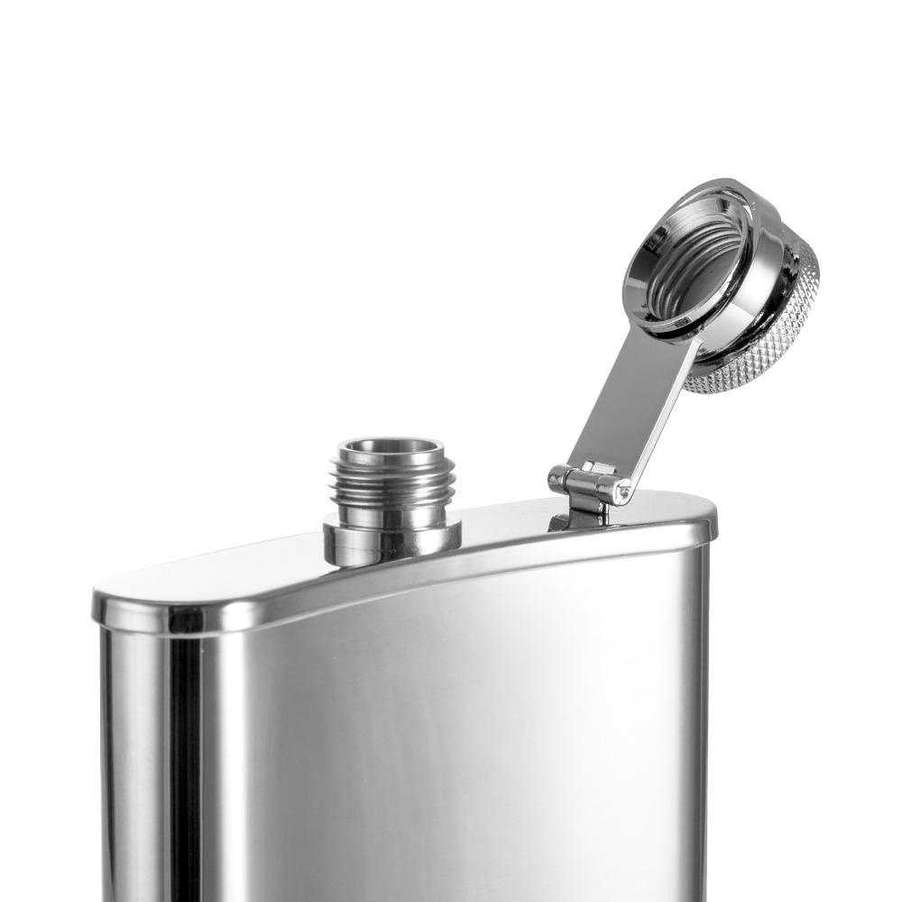 100pcs 6oz wholesale wine flask stainless steel for wine portable wine hip flask matraz flagon as bar accessary gift for men