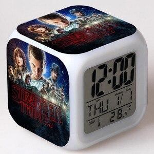 Часы с будильником Eleven Movie Figma, светодиодные, цветные, с сенсорным светом, настольные часы, экшн-фигурки
