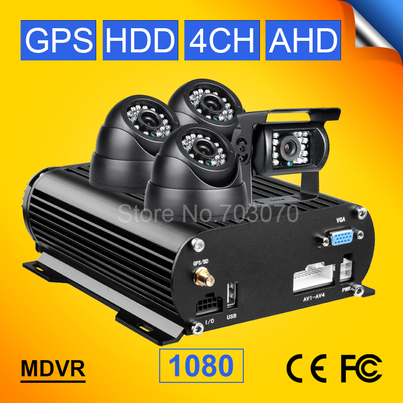4ch Mobile HDD DVR, Автобус dvr, такси видеорегистратор AHD, GPS MDVR, h.264 GPS автомоб ...