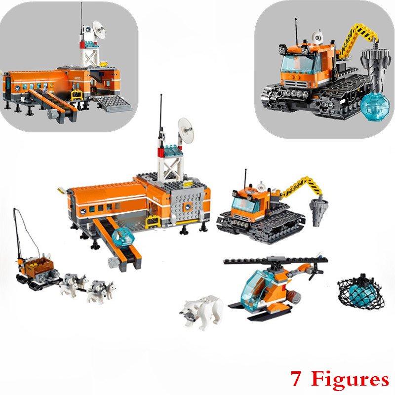 10442 City Arctic Base Camp Model Building Kits Compatible With Lepine City 3D Blocks Educational Toys Hobbies For Children B117 lepine model
