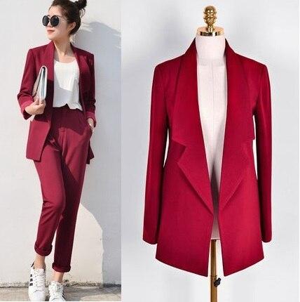 Брюки женские костюмы; повседневные офисные деловые костюмы Формальные Повседневная обувь комплекты Единые Стили элегантный брючный костюм