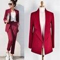 Fatos de calça Mulheres Casuais Escritório de Negócios Ternos Formais Desgaste do Trabalho Define Styles Uniformes Elegantes Fatos de Calça