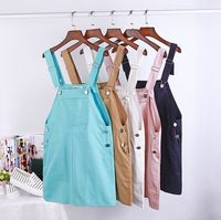 Big yards candy color small pure and fresh and lovely pocket braces skirt short skirt girl students tide