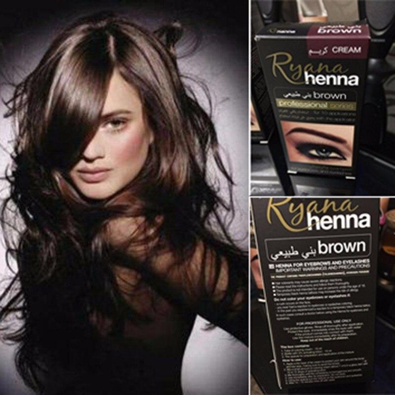 Professional Make up Eyebrow Henna Eyelashes Cream Natural Plant Colour Mehendi Eyebrow Tint Set Dye Brown Black With Gift intensive eyebrow tinting brush for brow tint dye colour