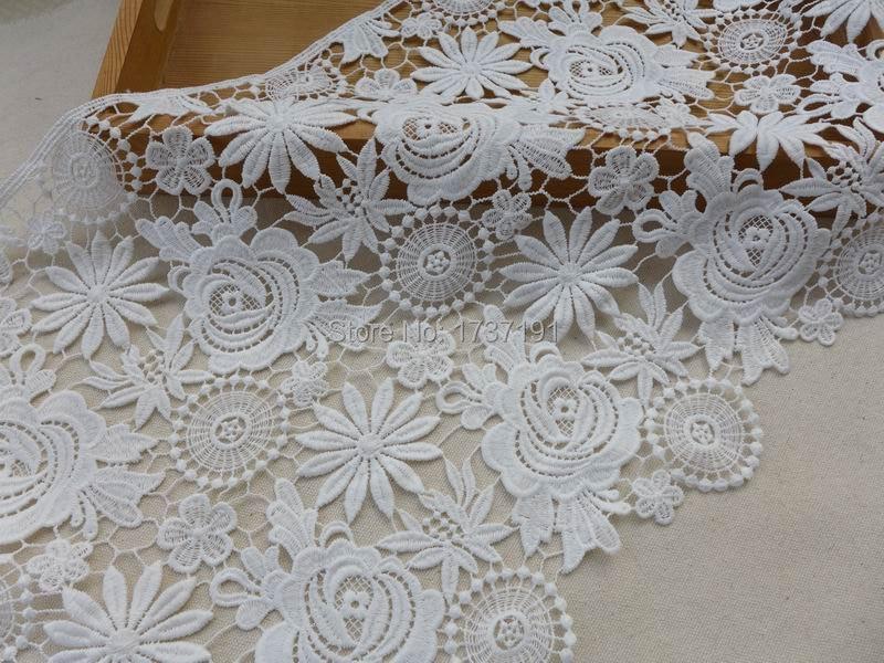 11cm off white 4 pieces of vintage style guipure lace doily applique motif