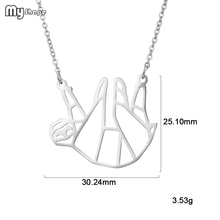 My Shape Stainless Steel Funny Monkey Pendant and Chain animalNecklaces for Girls Decorate Accessories