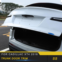 Auto Car styling Tailgate Trim Trunk Door Trim Cover Exterior Accessories for Cadillac XT4 2018 2019
