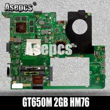 Asepcs N76VZ материнская плата для ноутбука ASUS N76VZ N76VM N76VJ N76V Тесты Оригинал материнская плата GT650M 2 Гб HM76