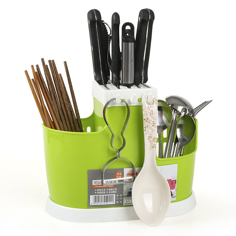 Creative Multifunctional Drain Chopsticks Storage Box Cutlery Knife Fork Spoon Compartment Storage Rack Home Kitchen Accessories