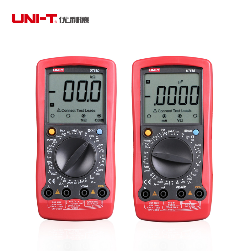 UNI-T UT58E DMM A/DC Modern Digital Multimeters UT58E Temperature Probe  цены