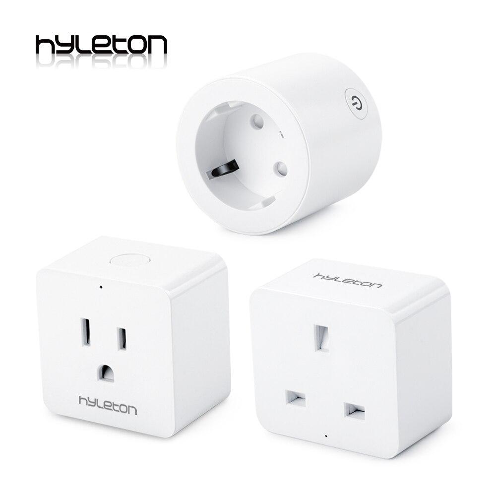 Hyleton smart plug 10A Domotique wifi socket 100-240 V Télécommande UE/US/AU Wifi prise de Travail avec Alexa et Google