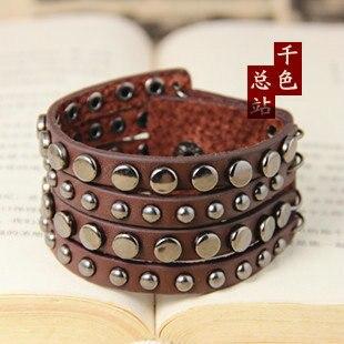 aliexpress mens 2016 jewellery,punk leather charm bracelet men snaps jewelry buttons vintage cuff bracelets & bangles for women