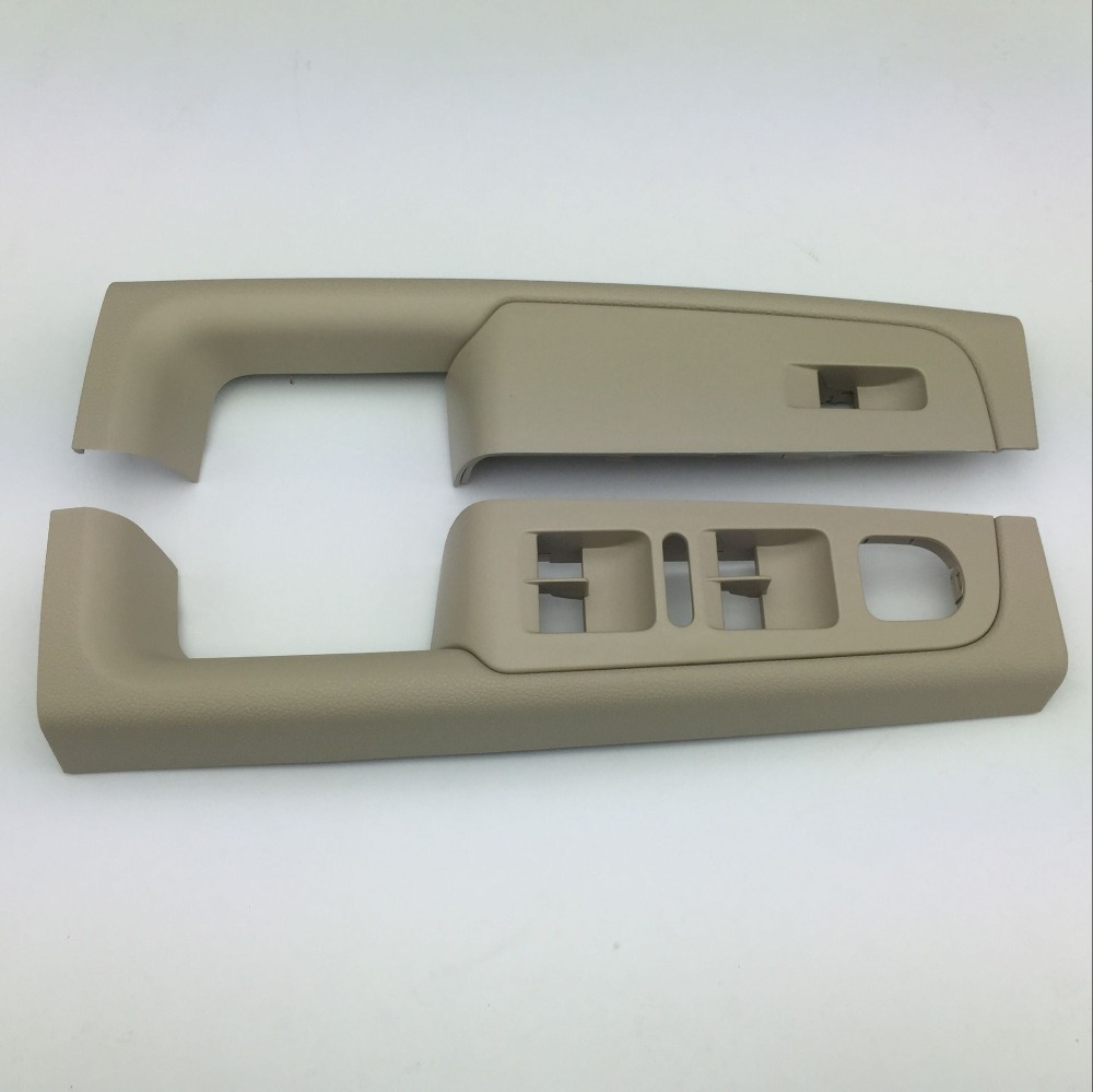 2 Pieces for Skoda Superb 2008-2013 Door Handle Beige Window Switch Control Panel Trim Left and Right 3TD 867 157 A/158 A
