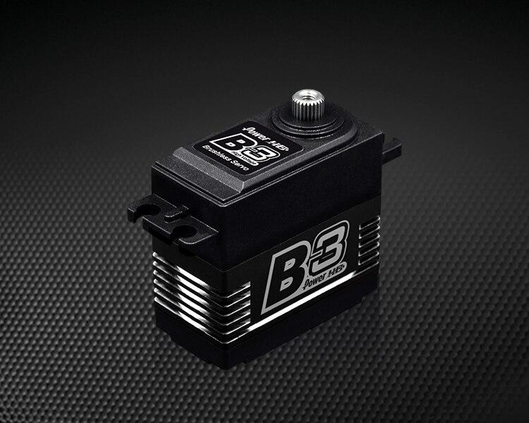 1 sztuk oryginalny Power HD B3 30 kg 7.4 V bezszczotkowy serwomechanizm cyfrowy z metalowymi zębatkami i podwójne łożyska w Części i akcesoria od Zabawki i hobby na  Grupa 2
