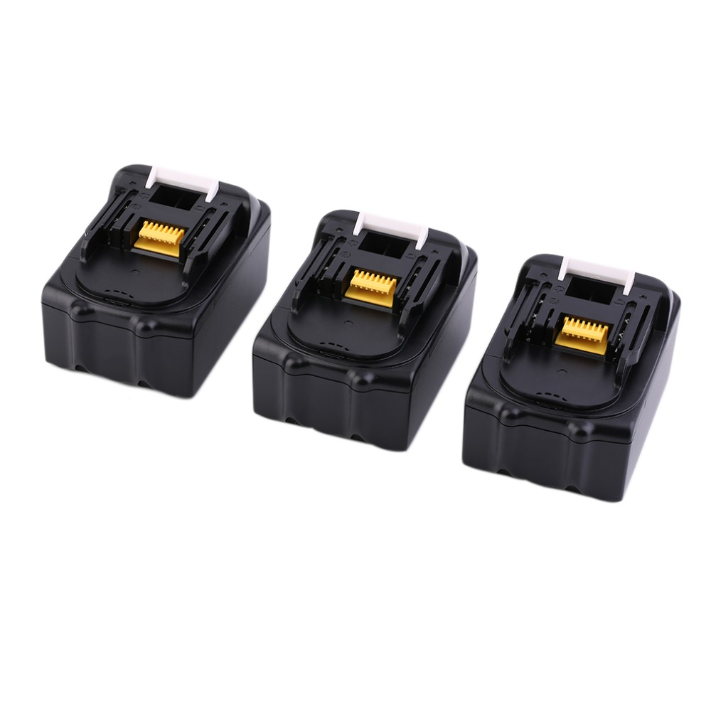 3pcs/set 18V Lithium li-ion Battery 3000mAh rechargeable replacement power tool Battery For Makita Li-ion LXT 18V Machines 3pcs set 18v lithium li ion battery 3000mah rechargeable replacement power tool battery for makita li ion lxt 18v machines