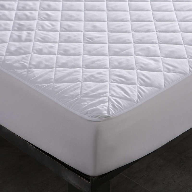 Escovado Tecido Impermeável Protetor de Colchão Impermeável Protetor de colchão Lençol Anti ácaro colchão tampa de cama couvre lit 1 PC