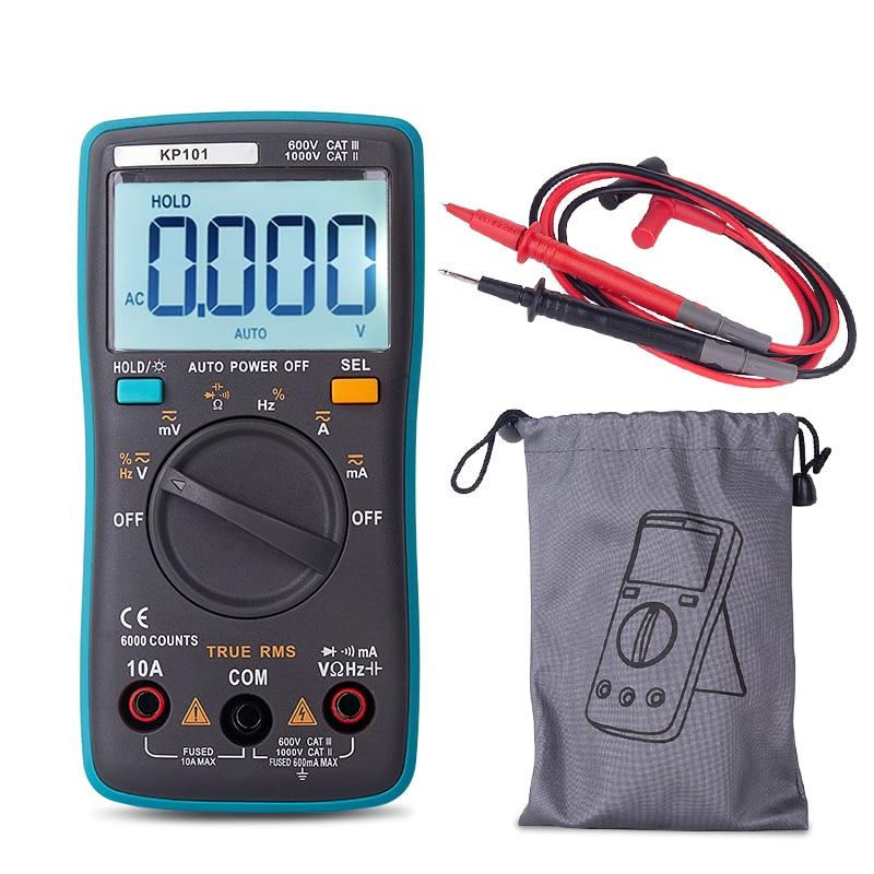 Digital Multimeter Professional True RMS ESR Meter Capacitor Tester KP101 Mini capacitance Meter With Test Leads Tester Tips