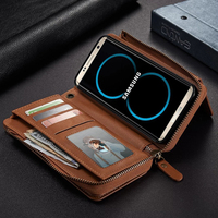 For Samsung S8 Case Luxury Vintage Dtachable Leather Soft Silicone Protective Flip Phone Case For Samsung