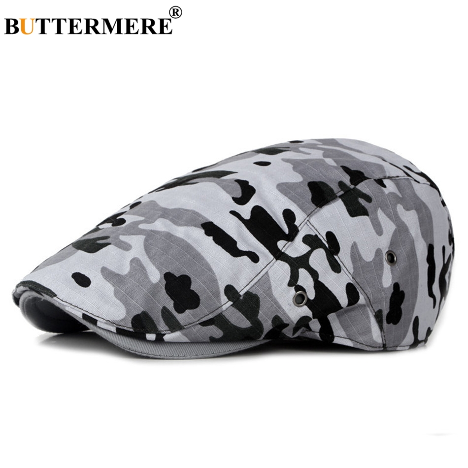 BUTTERMERE Hats Berets Male Directors-Caps Flat-Cap Duckbill Classic Adjustable Retro