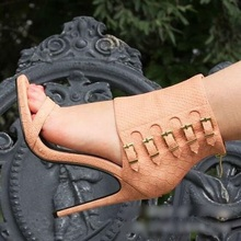 Sexy Black Gold Leather Buckle Strap Gladiator Sandals Women Cut-out Peep Toe Print Cage Shoes Ladies Short Boots