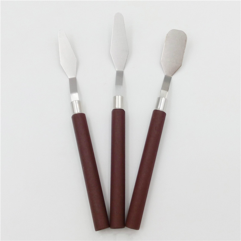 Stainless Steel Painting Knife Blade Palette Scraper Set Spatula Knives For Artist Oil Painting Tool 3pcs/5pcs
