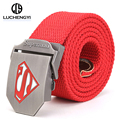[LCY] New Tactical Belt Superman Canvas Wide Men's Military Belts Army Thicken buckle Ceinture Male Unisex Cinto Masculino LB090