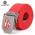 [LCY] nuevo Tactical Cinturón de Lona Superman de Los Hombres Anchos Cinturones Militares Ejército Espesar hebilla Ceinture Masculinos Unisex Cinto masculino LB090