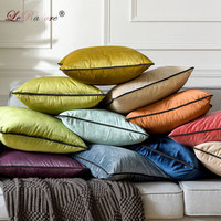 LeRadore Italian Velvet Solid Cushion Bolster for Hotel Home Club Company Decorative Textiles 35*60cm 65*65cm Throw Pillow Cover