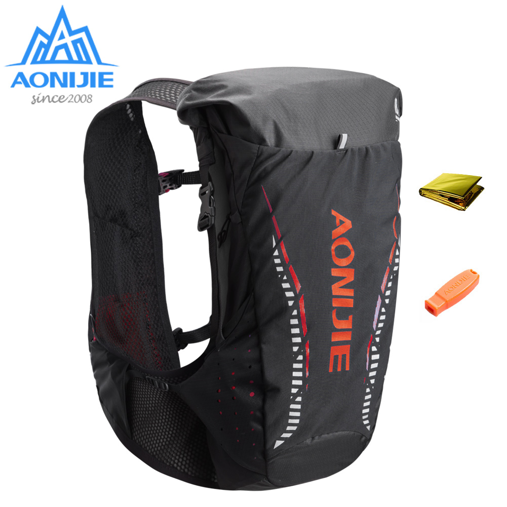 AONIJIE C943 Lightweight 18L Hydration Backpack Rucksack Bag Vest 2L Water Bladder Hiking Camping Running Marathon Race SM LXL