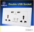 Wallpad 110-250V  5V 1A  Double USB Ports Wall Socket, 146*86 Universal Wall Socket  Wall USB Charger any country, Free Shipping