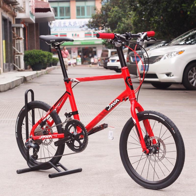 JAVA LIMIITED CL 20 Minivelo Bike SLX Hydraulic Disc Brake Uniex High Quality Urban 406 City Mini velo Bicycle 18 Speed Red