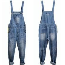 Adult One Piece Denim Jumpsuit Men Overalls Jumpsuit Bib Pants Suspender Jeans Long Pants Dark Blue Light Blue Big Size S-5XL