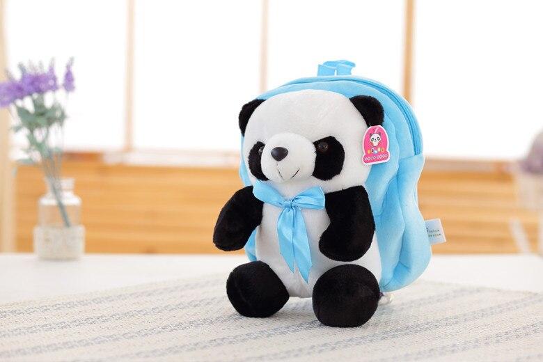 kawaii cute stuffed ცხოველები panda schoolbag - პლუშები სათამაშოები - ფოტო 2