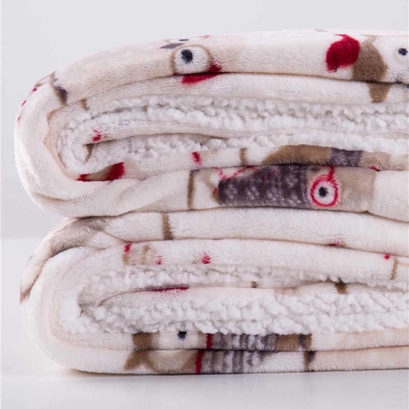 Ağırlıklı flanel polar battaniye Kış Yetişkin Yumuşak Kalın Sherpa Atmak Battaniye çekyat Kanepe Frazadas Mantas De Cama Cobertor