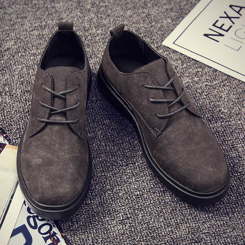 Lace grey Casual Hommes Appartements Mode Hiver Black Automne Ae443 brown Cuir Up Pu Homme En New Chaussures Oxford TqSnB0S