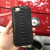 Natural Real Genuine Leather Cover Case For iPhone XS Max 11 PRO Case Python Skin Snake Design custom name Phone Case dropship