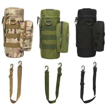 Outdoor Military MOLLE Tactical Zip Water Bottle Kettle Shoulder Sling Strap Holder Bag Pouch for Travel Camping camping sports water bag new outdoor tactical military molle system bottle bag kettle pouch holder