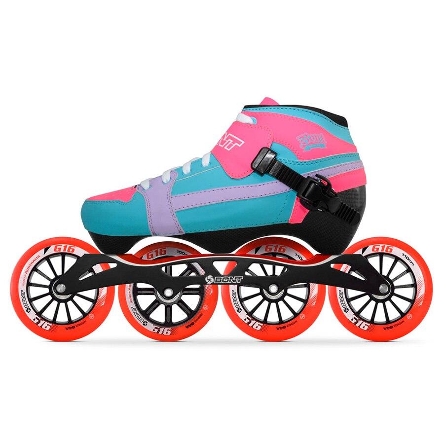 Sport & Unterhaltung Skate-schuhe Pflichtbewusst 100% Original Bont Verfolgung 3pt Geschwindigkeit Inline Skates Heatmoldable Carbon Faser Boot S-frame7 G16 100/110mm Räder Skating Patines
