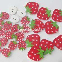 WBNAVS красные пуговицы форма клубники необычные детские пуговицы 100 штук DIY Швейные аксессуары