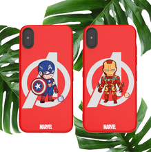 Marvel soft case for iphone X XS MAX XR 8 7 6 6S plus phone cover matte silicone Avengers iron Man America coque capa fundas