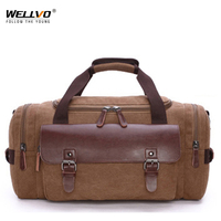 2019 Hot Sale Men Large Capacity Canvas Handbag Portable Travel Duffle Airport Train Shoulder Bag Work Out Bolsos Mujer XA1741C