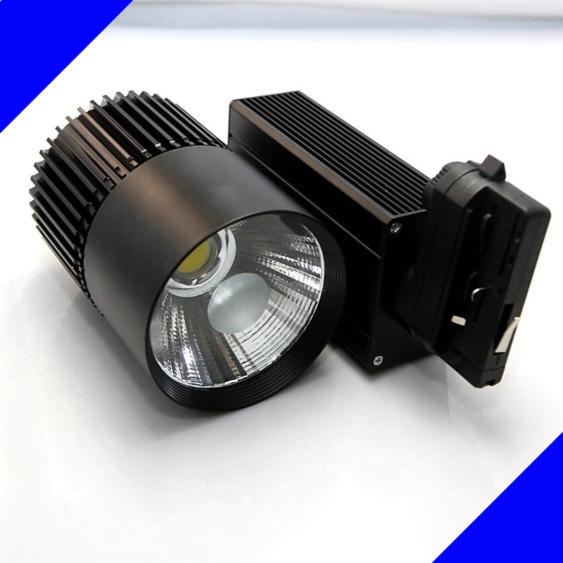 2016 New 4line 30W COB LED track light 30W COB track light, clothing store track spot lighting high bright Free shipping