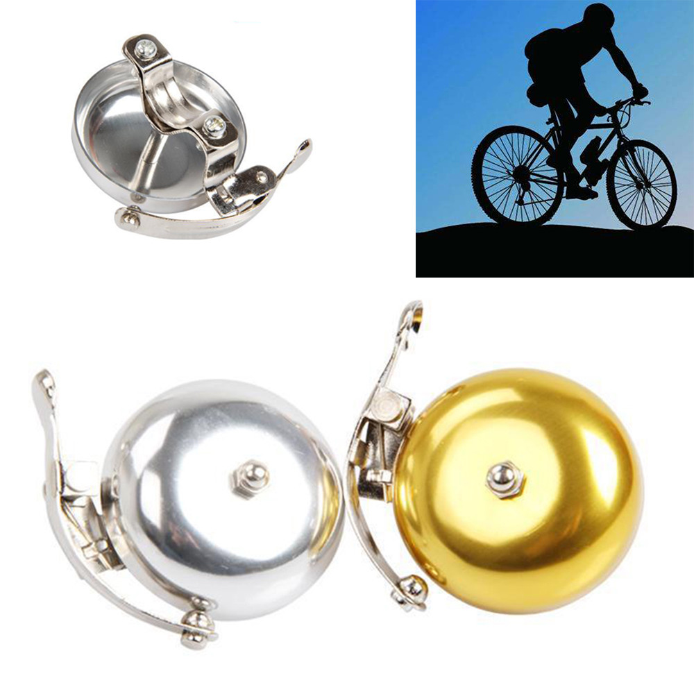 Retro Classic Handle Bicycle Bell Metal stainless steel Bell Ring Bicycle Horn Alarm Accessories Sound loud Random Color